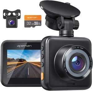 APEMAN Dual Lens Dash Cam for Cars
