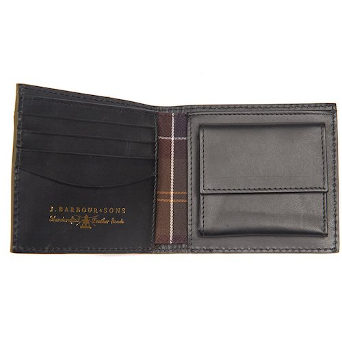 Barbour Grain Leather Coin Wallet