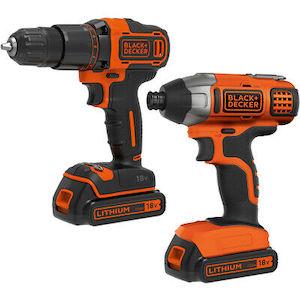 Black + Decker BCK25S2S Drill and Driver Combi Bundle