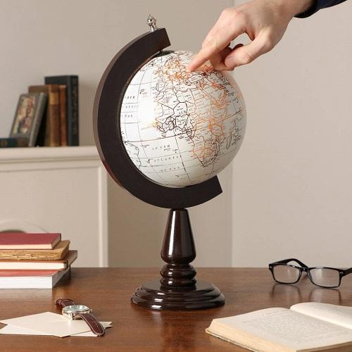 Luxury Mango Wood Home Office Desk Globe