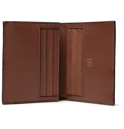 Mulberry Grain Veg Tanned Leather Trifold Wallet