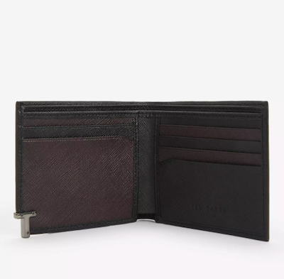 Ted Baker Aspect T Branded Leather BiFold Wallet