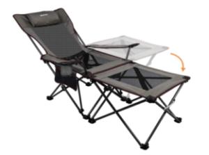 XGEAR Camping Chairs Folding Reclining Portable Chair