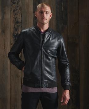 Superdry Light Leather Bomber Jacket