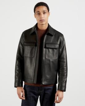 Ted Baker Leather Harrington Jacket