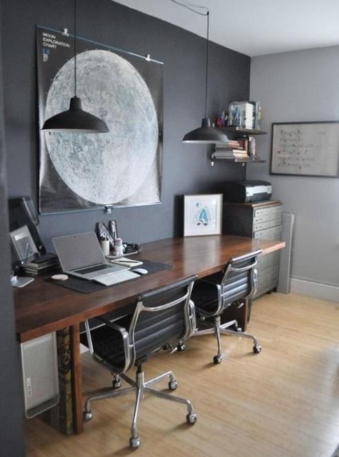 wall art for masculine office ideas